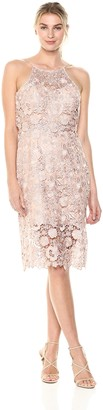 Jenny Yoo Women's Freya Halter Lace Cocktail Dress
