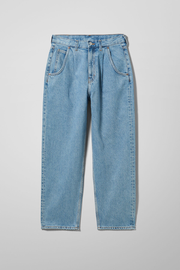 Thumbnail for your product : Weekday Fold Pleat Jeans - Blue