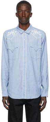 Double Rainbouu Blue Western Shirt