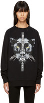Marcelo Burlon County of Milan Black new Renaissance Mank Sweatshirt