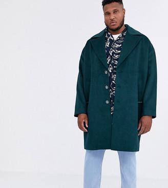 ASOS Plus overcoat in wool mix