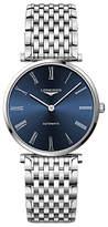 Longines L49084946 Men's La Grande Classique Automatic Bracelet Strap Watch, Silver/Blue