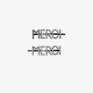 Ashley Williams silver tone Merci crystal hair clip set