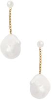 Janis Savitt 18K Yellow Gold & Pearl Drop Earrings