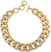 """Iman Global Chic Runway Glam Luxury Links and Pave 19"""" Necklace"""