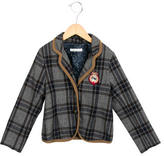 Ikks Girls' Plaid Collared Jacket