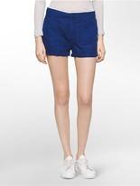 Calvin Klein Linen-Blend Cuffed Shorts
