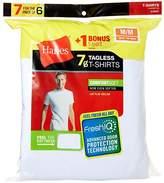 Hanes Men's 7 Pack Freshiq Comfortsoft Crewneck T-Shirt
