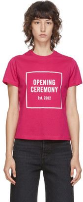 Opening Ceremony Pink Box Logo T-Shirt