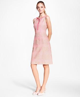 Brooks Brothers Checked Boucle Sheath Dress