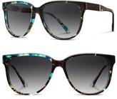 Shwood Women's 'Mckenzie' 57Mm Retro Sunglasses - Black/ Ebony/ Grey Fade