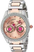 Betsey Johnson BJ00611-17 - Two-Tone Rose Inner Face Watches