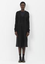 Junya Watanabe black sheer l/s apron dress