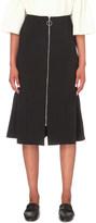 Edit Fishtail stretch-crepe midi skirt