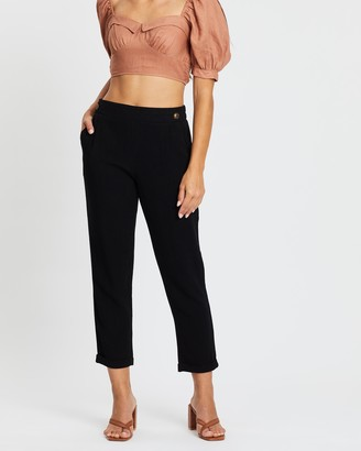 Atmos & Here Tapered Linen-Blend Pants