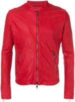 Giorgio Brato band collar biker jacket