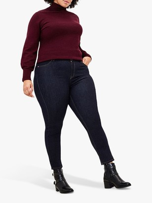 Oasis Curve Lily Rinse Wash Skinny Jeans, Dark Wash
