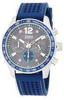 GUESS Stainless Steel and Rubber Strap Watch