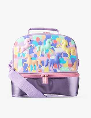 Illusion unicorn-print hardtop lunchbox