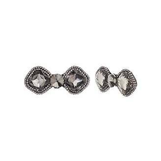 Steve Madden Women's Rhinestone Bow Design -Tone Shoe Clip Set
