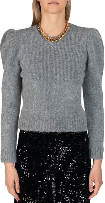Derek Lam 10 Crosby Locken Puff-Sleeve Crewneck Sweater