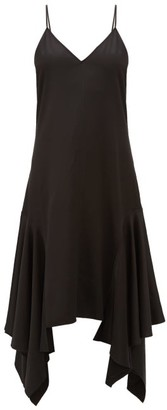 J.W.Anderson Asymmetric-hem Satin Slip Dress - Womens - Black