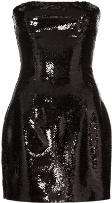 Balmain Sequin Bustier Mini Dress