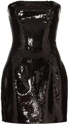 Balmain Sequin Bustier Mini Dress