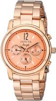 Invicta Women's Angel Rose Gold Tone Dial 18k Rose Gold Plated Stainless Steel