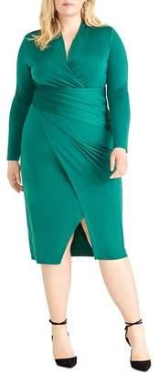 Rachel Roy Plus Bret Jersey Ruched Dress