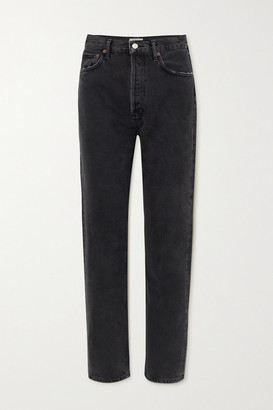 AGOLDE '90s High-rise Straight-leg Jeans - Black