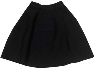 Suncoo Navy Cotton Skirt for Women