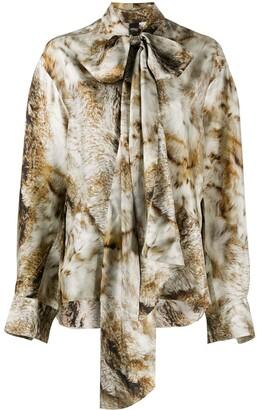 Petar Petrov Clancy animal-print blouse