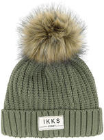 Ikks Knit and false fur hat
