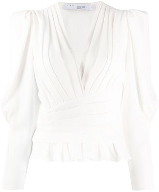 IRO Ruched V-Neck Top