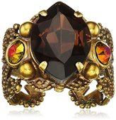 """Sorrelli Green Tapestry"""" Necessary Navette Ring, Size"""
