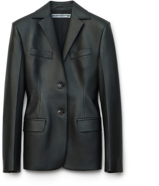 Collection Single Breasted Leather Blazer