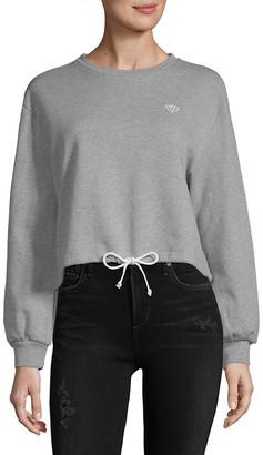 Lea & Viola Crop Drawstring Sweatshirt