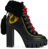 DSQUARED2 Stivale ankle boots - women - Artificial Fur/Leather/Polyester/rubber - 36
