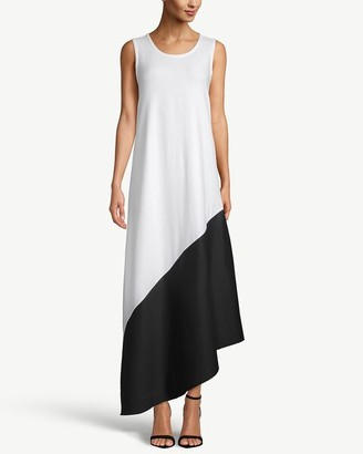 Chico's Sleeveless Colorblock Asymmetrical-Hem Maxi Dress