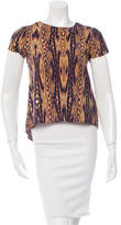 Gryphon Silk-Blend Printed Top