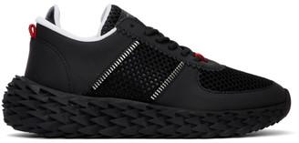 Giuseppe Zanotti Black Mesh Urchin Sneakers