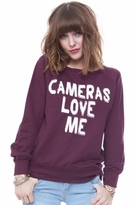 Local Celebrity Cameras Love Me Erin Sweater in Burgundy
