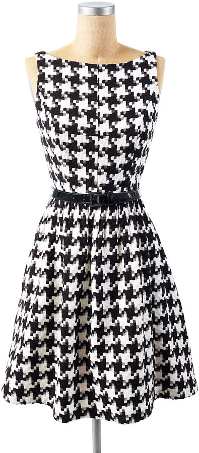 Jessica Simpson Houndstooth Belted Dress