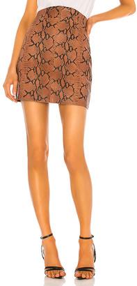 Camila Coelho Luana Leather Mini Skirt