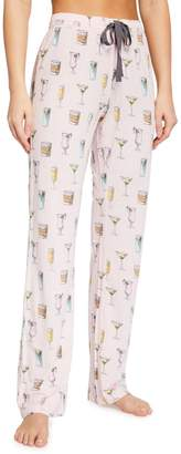 PJ Salvage Cocktails Playful Prints Jersey Lounge Pants