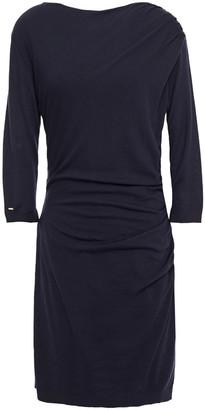 Lanvin Ruched Wool-blend Mini Dress