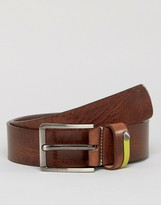 Ted Baker Leather Belt with Highlight Keeper