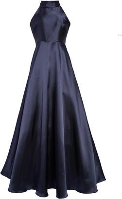 ML Monique Lhuillier Mock Neck Fit & Flare Gown