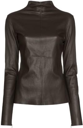 Bottega Veneta turtleneck leather top